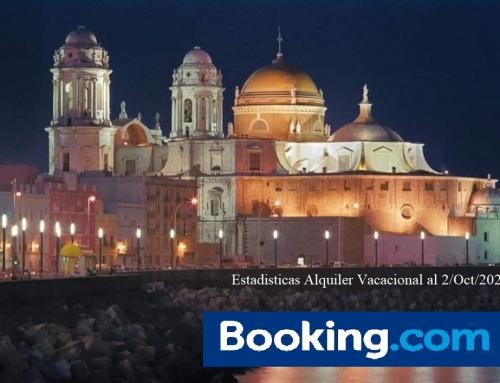 Las estadísticas de Booking.com de Búsqueda, y Reserva en Cadiz, al 2 de Octubre 2021