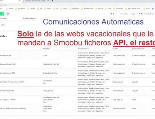 Smoobu.com solo sincroniza los contactos de API, y no de iCal de las webs Vacacionales