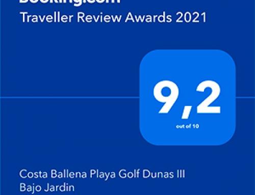 Booking.com premia en Costa Ballena, el primer Alquiler Vacacional con el Awards 2021 – Dunas III Bajo Jardin