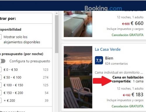 Hay personas que ofrecen la cama de al lado en su habitación en Booking de verdad